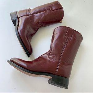 JUSTIN Cowboy Boots Junior Sz 2.5
